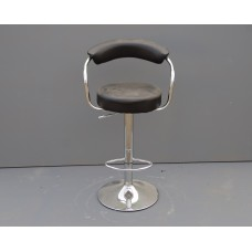 Black Leather Bar Chair